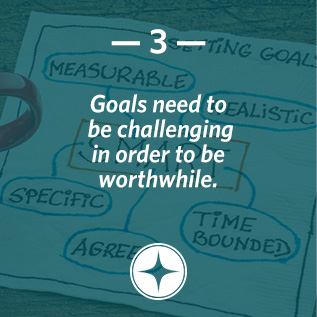 Goals need to be challenging in order to be worthwhile.