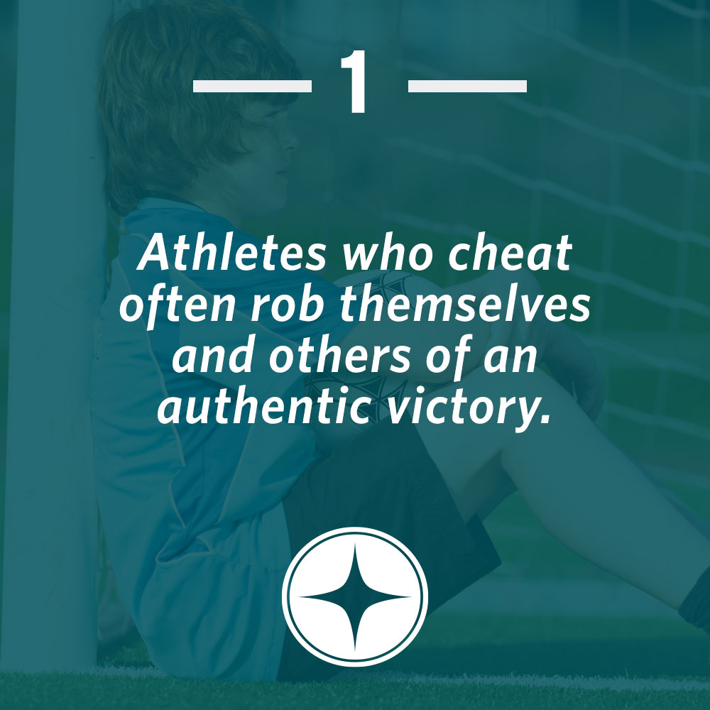 Athletes who cheat often rob themselves and others of an authentic victory.
