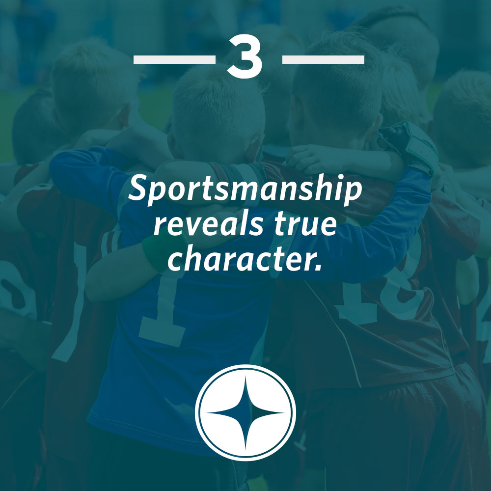 Sportsmanship reveals true character.
